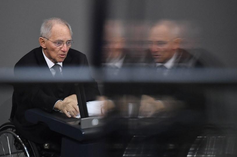 Przewodniczący parlamentu Niemiec Wolfgang Schaeuble /AFP
