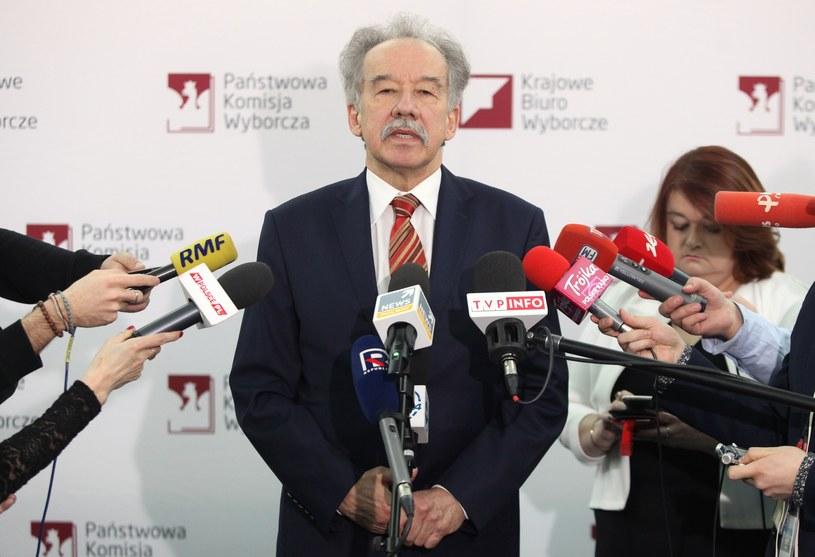 Przewodniczący PKW Wojciech Hermeliński /Stefan Maszewski /Reporter