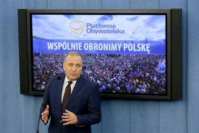 Przewodniczący Platformy Obywatelskiej Grzegorz Schetyna /Paweł Supernak /PAP