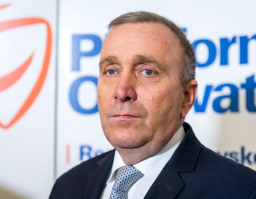 Przewodniczący Platformy Obywatelskiej Grzegorz Schetyna /Tytus Żmijewski /PAP