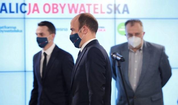 Przewodniczący PO Borys Budka / Leszek Szymański    /PAP