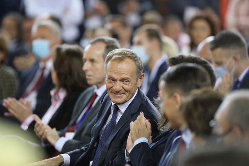 Przewodniczący PO Donald Tusk /Wojciech Olkuśnik /PAP