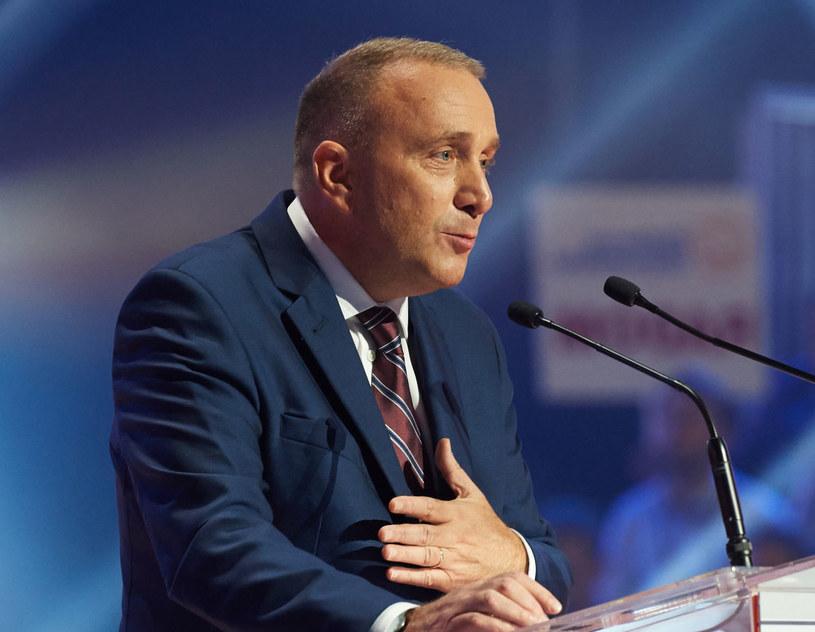 Przewodniczący PO Grzegorz Schetyna podczas Konwencji Krajowej Platformy Obywatelskiej /Adam Warżawa /PAP
