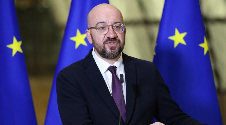 Przewodniczący Rady Europejskiej Charles Michel /FRANCOIS WALSCHAERTS /PAP/EPA