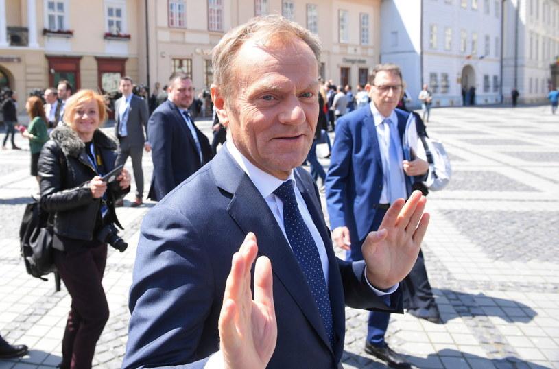Przewodniczący Rady Europejskiej Donald Tusk po posiedzeniu Nieformalnego Szczytu Szefów Państw i Rządów Unii Europejskiej w Sybinie / Radek Pietruszka   /PAP