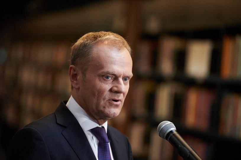 Przewodniczący Rady Europejskiej Donald Tusk w Gdańsku /Adam Warżawa /PAP