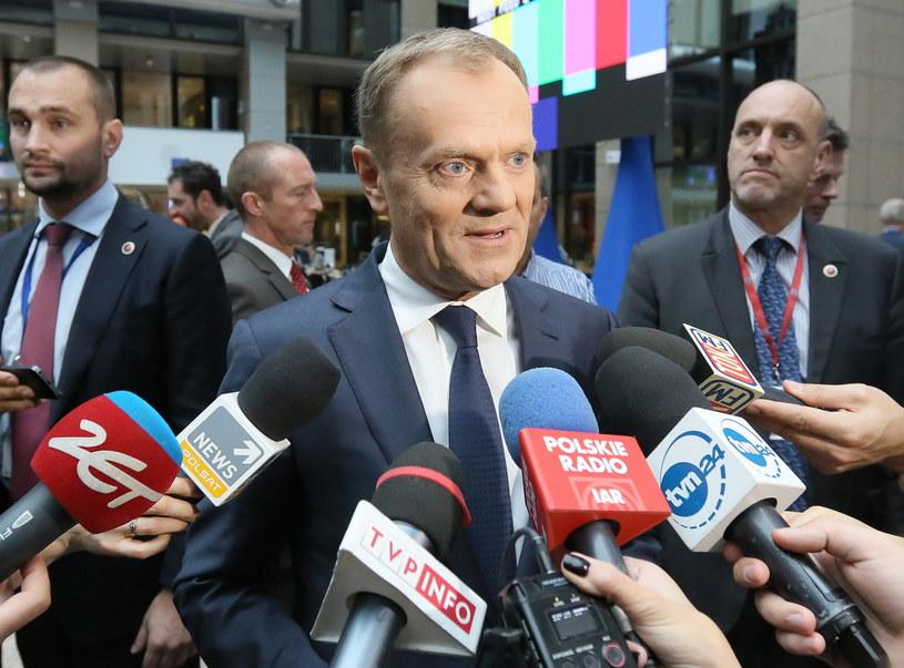Przewodniczący Rady Europejskiej Donald Tusk /Radek  Pietruszka /PAP