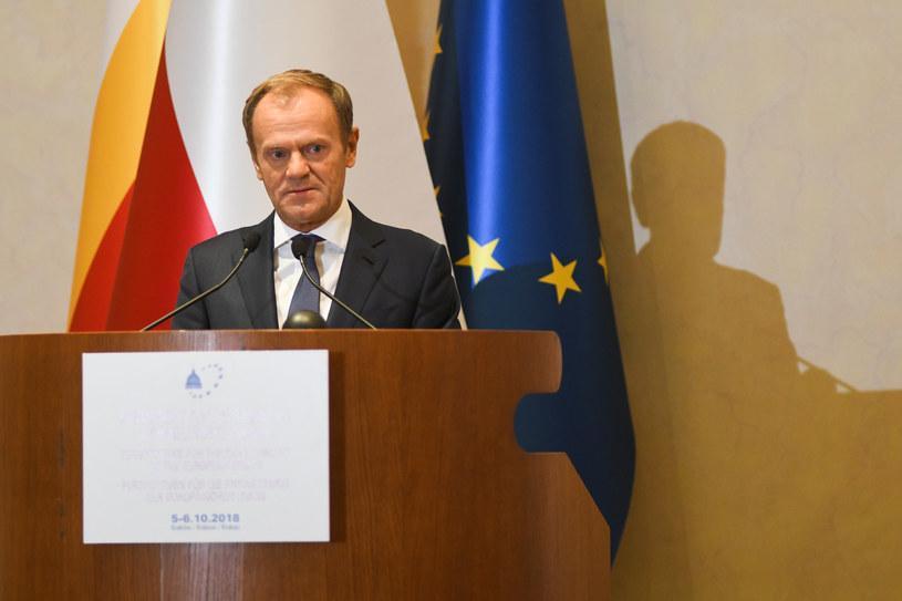 """Przewodniczący Rady Europejskiej wziął udział w konferencji """"Rola Kościoła w procesie integracji europejskiej"""" /Grzegorz Lyko /FORUM"""