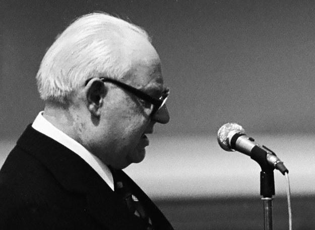 Przewodniczący Rady Państwa i Komisji Nadzwyczajnej Henryk Jabłoński kłamał jak z nut /Andrzej Mroczek /Fotonova