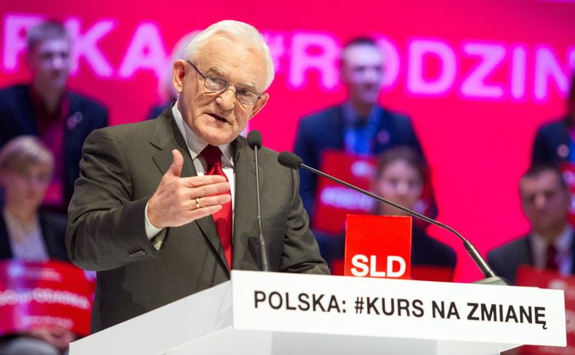 Przewodniczący SLD Leszek Miller. /Andrzej Grygiel /PAP
