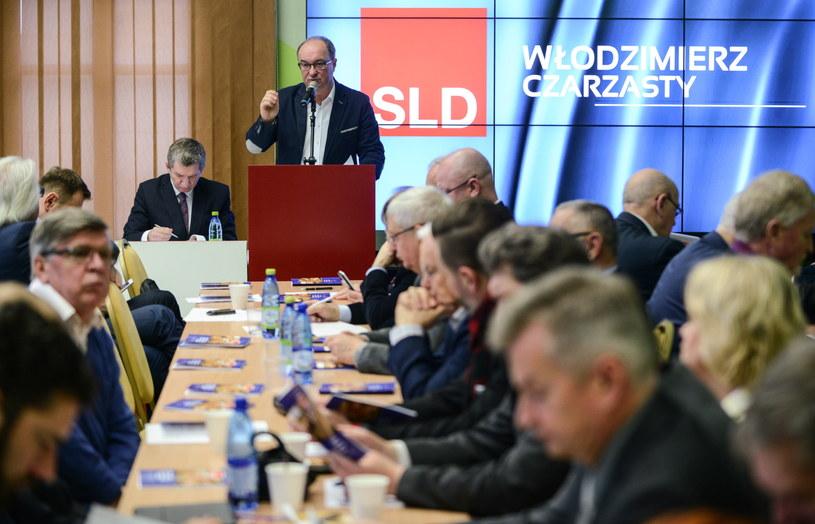 Przewodniczący Sojuszu Lewicy Demokratycznej Włodzimierz Czarzasty podczas posiedzenia rady krajowej SLD, /Jakub Kamiński   /PAP