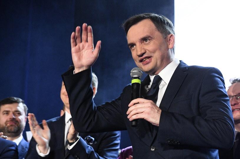 Przewodniczący Solidarnej Polski, minister sprawiedliwości Zbigniew Ziobro /Radek  Pietruszka /PAP