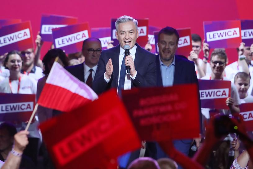 Przewodniczący Wiosny Robert Biedroń /Leszek Szymański /PAP