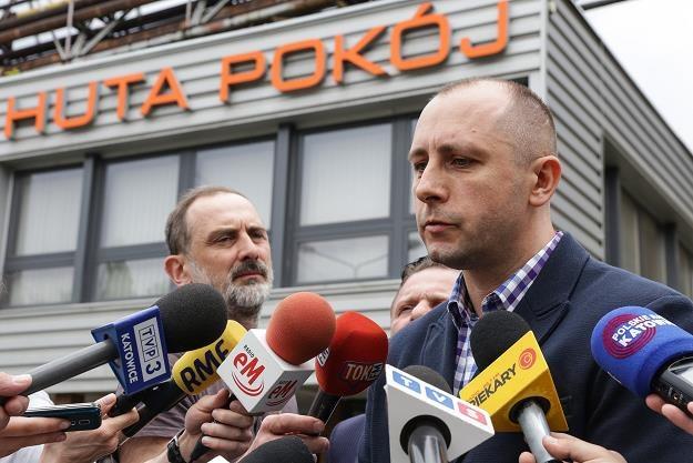 Przewodniczący związku zawodowego Kadra Robert Jóźwiak (P) /PAP