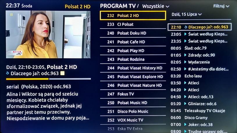 Przewodnik po programach EPG /INTERIA.PL