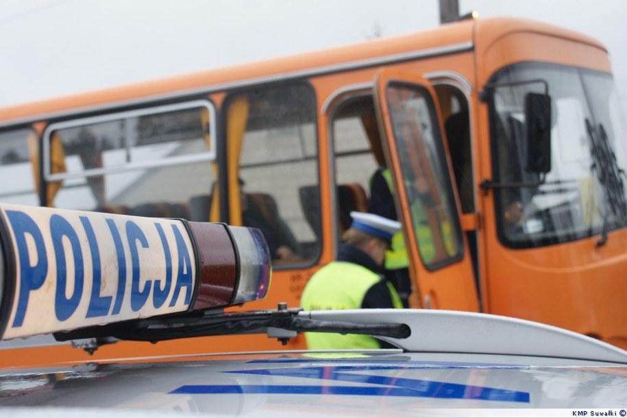 Przez dwa tygodnie policjanci sprawdzili 45 gimbusów /Piotr Bułakowski /RMF FM