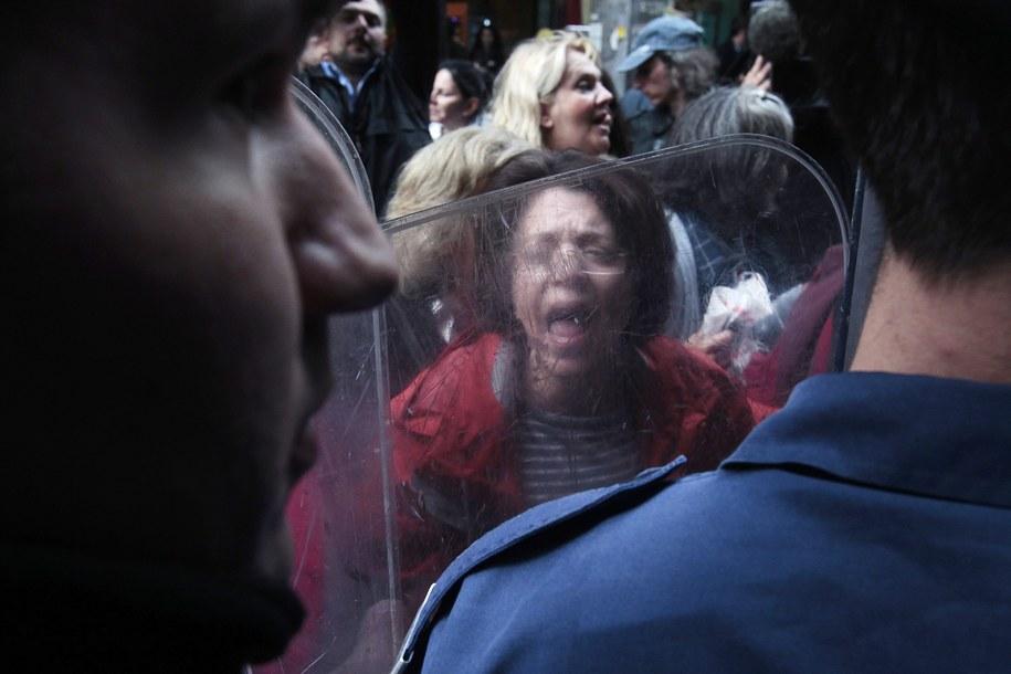 Przez Grecję przetacza się fala protestów ubożejącego społeczeństwa /ORESTIS PANAGIOTOU /PAP/EPA
