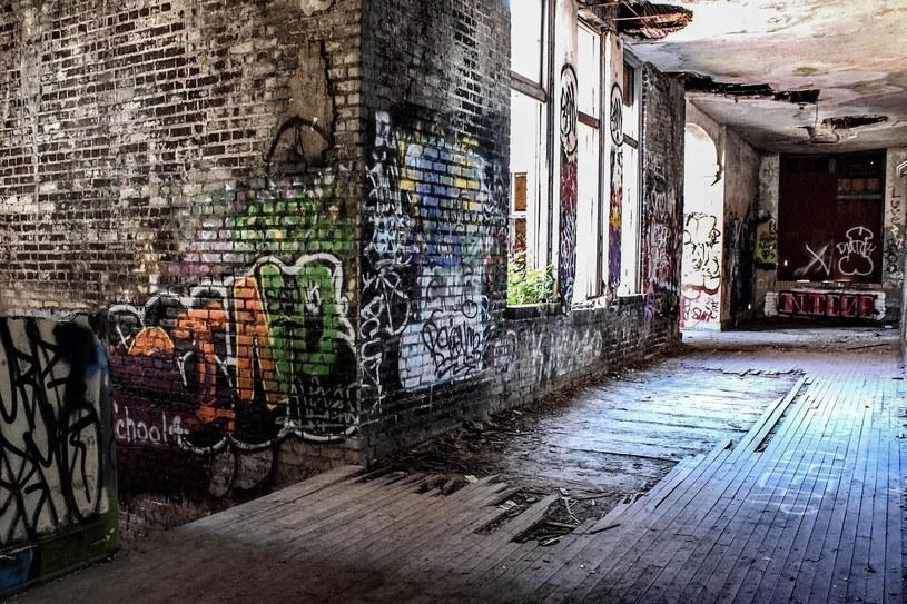 Przez lata ci, którzy włamywali się na teren szkoły zostawiali po sobie graffiti na ścianach /123RF/PICSEL