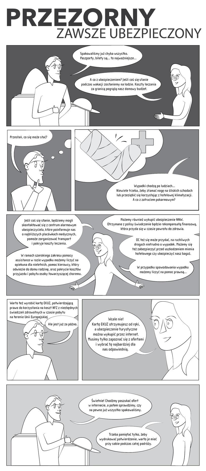 Przezorny zawsze ubezpieczony (komiks) /Barbara Kosakowska /INTERIA.PL