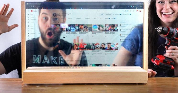 Przezroczysty wyświetlacz LCD / fot. zrzut z YouTube /materiał zewnętrzny