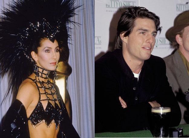 Przy Cher skryty Cruise wyglądał jak szara myszka /Getty Images/Flash Press Media