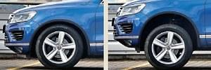Przy normalnym ustawieniu do jazdy po szosie prześwit wynosi 22 cm. Po maksymalnym uniesieniu zawieszenia wartość ta rośnie do znaczących 30 cm. /Motor
