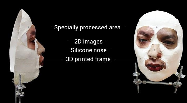 Przy pomocy takiej maski złamano zabezpieczenia iPhone'a - materiały opublikowane przez Bkav /materiały prasowe