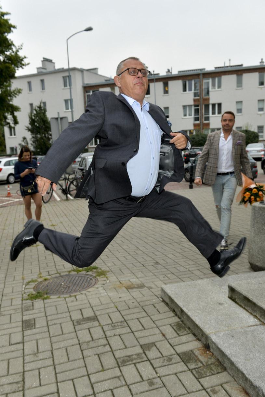 Przy Tadeuszu Chudeckim fotoreporterzy nie mogą narzekać na nudę /Niemiec /AKPA