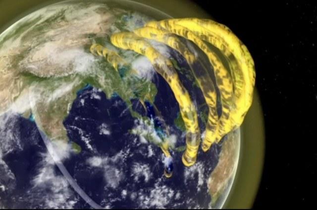 Przybliżony wygląd plazmowych struktur w magnetosferze Ziemi. /materiały prasowe