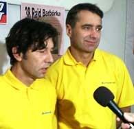 Przybylski (z prawej) i Gęborys w trakcie wywiadu /INTERIA.PL
