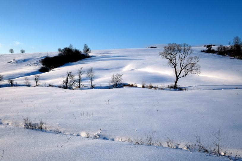 Przybywa śniegu na Podkarpaciu /Darek Delmanowicz /PAP