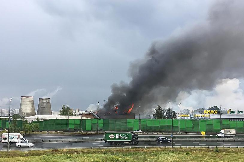 Przyczyną pożaru miała być wyrwa w gazociągu /IVANA JURISA /AFP