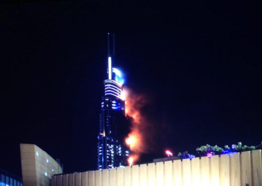 Przyczyny wybuchu pożaru w hotelu Address Downtown nie są znane /AYMAN YACOOB /PAP/EPA