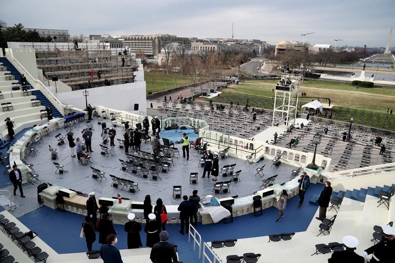 Przygotowania do inauguracji Joe Bidena /Greg Nash /PAP/EPA