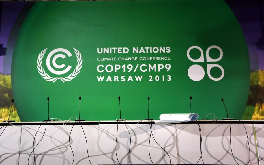 Przygotowania na Stadionie Narodowym w Warszawie, przed szczytem COP19 /Tomasz Gzell /PAP