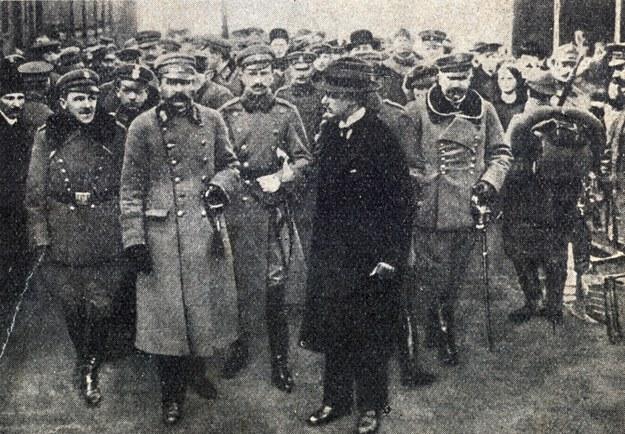 Przyjazd Komendanta Józefa Piłsudskiego z Magdenburga, 10.11.1918 /Piotr Mecik /Agencja FORUM