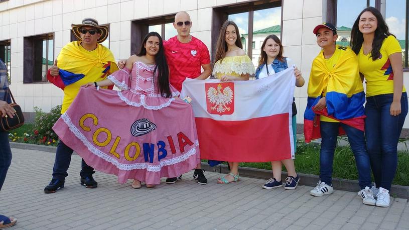 Przyjaźń polsko-kolumbijska kwitnie. Ale zakończy się na dwie godziny, z pierwszym gwizdkiem sędziego /Rafał Walerowski /INTERIA.PL