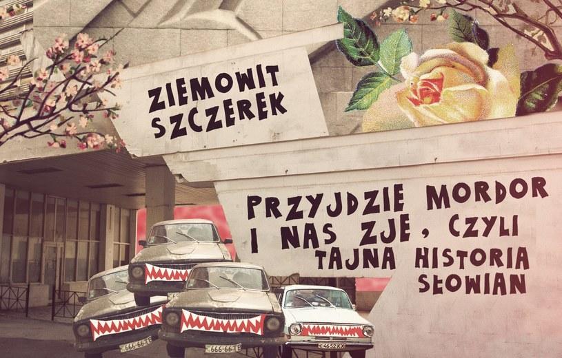 """""""Przyjdzie Mordor i nas zje, czyli tajna historia Słowian"""" to  powieść drogi w klimacie gonzo. Polscy """"plecakowcy"""" jeżdżą po gruzach poradzieckiej Europy Wschodniej. I po tym, co się z tych gruzów zaczyna rodzić. /Autorka okładki: Balbina Bruszewska /"""