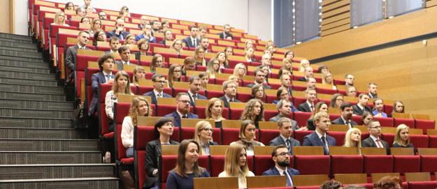 Przyjęcie aplikacji sędziowskich w Krajowej Szkole Sądownictwa i Prokuratury w Krakowie /Józef Polewka /RMF FM
