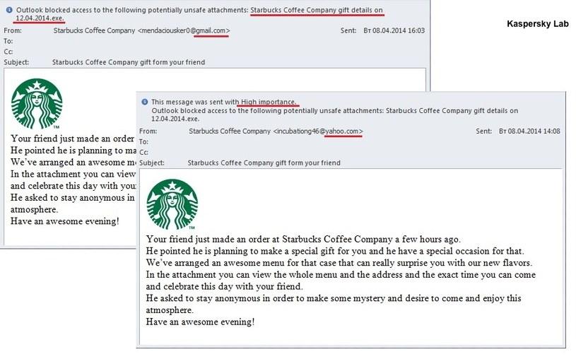 Przykład fałszywego maila zainfekowanego ZeuSem /materiały prasowe