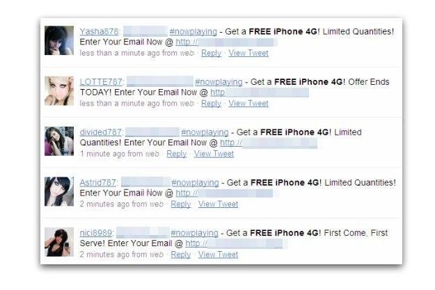 """Przykład fałszywych wiadomości o """"darmowym"""" iPhonie 4G /materiały prasowe"""