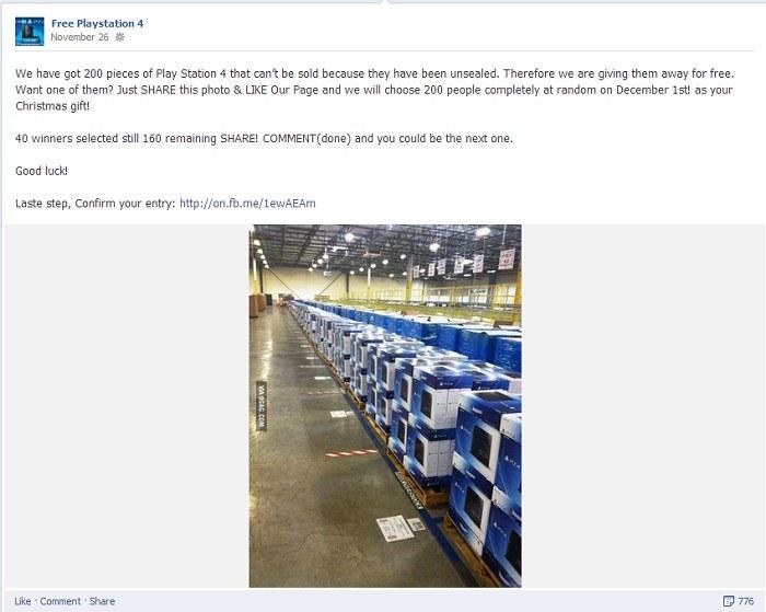 Przykład oszustwa na Facebooku /materiały prasowe