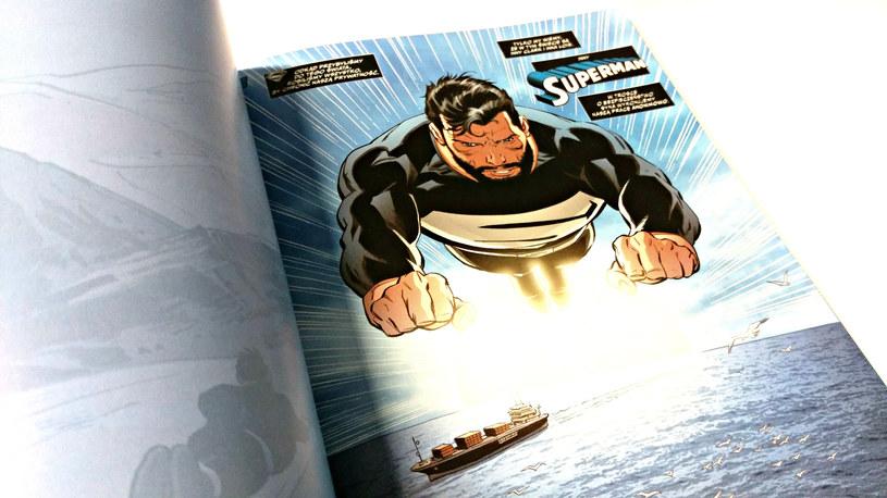 Przykładowa strona z nowego komiksu o Supermanie /INTERIA.PL