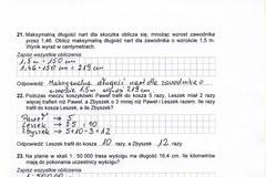 Przykładowe rozwiązanie testu dla gimnazjalistów