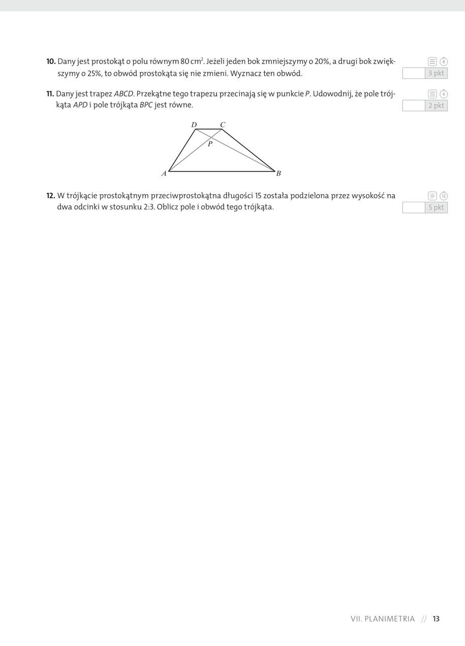 Przykładowy arkusz z matematyki /Materiały prasowe