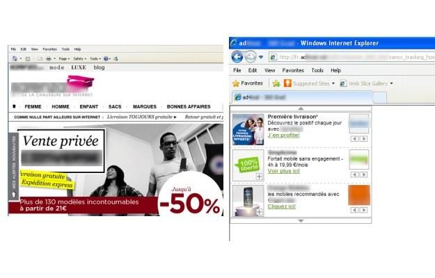 Przykłady reklam wyświetlanych na zainfekowanych komputerach /materiały prasowe