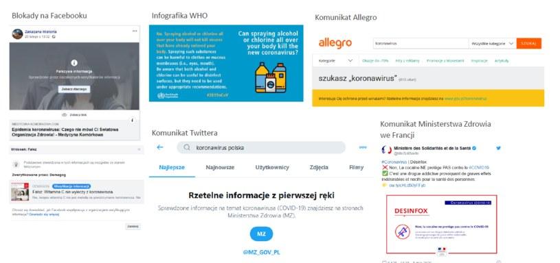 Przykłady walki z dezinformacją /materiały promocyjne