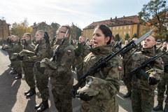 Przysięga podchorążych Wojska Obrony Terytorialnej