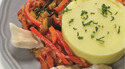 Przysmak adriatycki  gotowanym morszczukiem i palentą