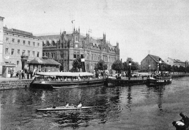 Przystań na Kanale Bydgoskim /Archiwum Tomasza Basarabowicza